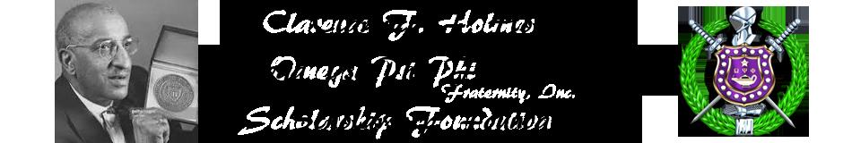 Clarence F. Holmes / Omega Psi Phi Fraternity, Inc. Scholarship Foundation Logo